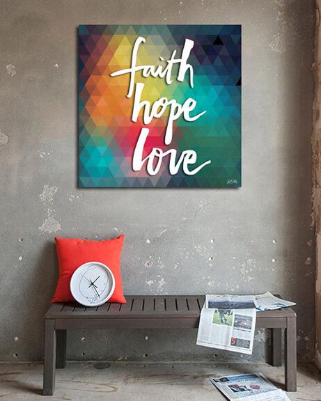 Faith Hope Love (Quadrado)