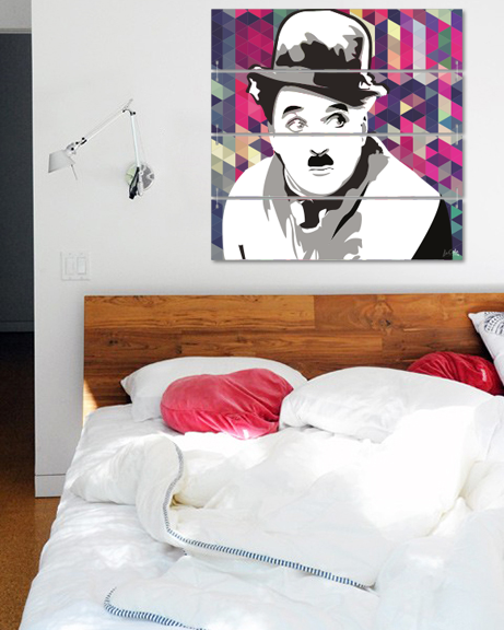 Charlie Chaplin (Canvas)