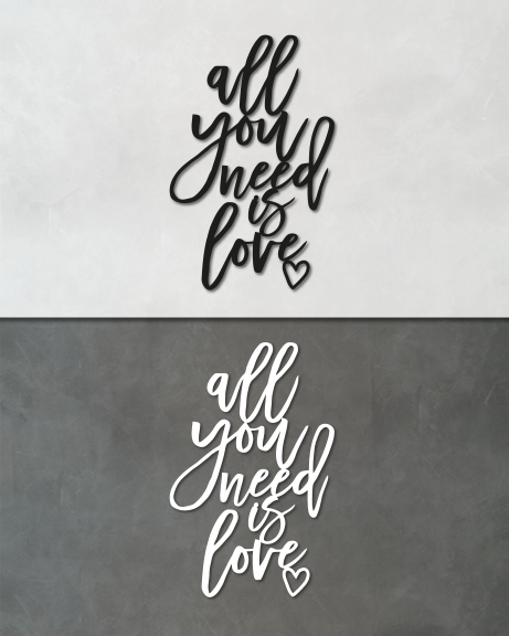 All you need is love (lettering)