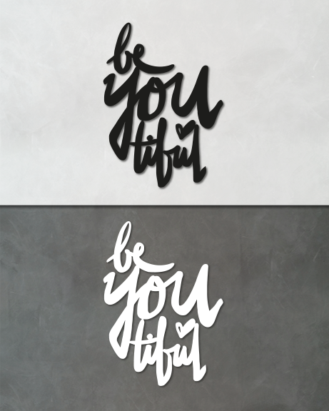 BeYOUtiful (lettering)