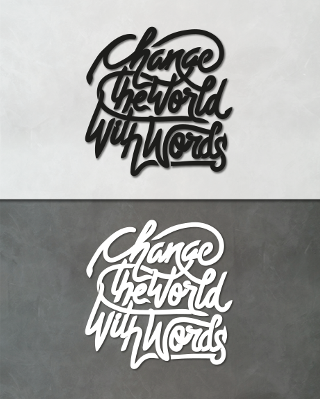 Change the world (lettering)