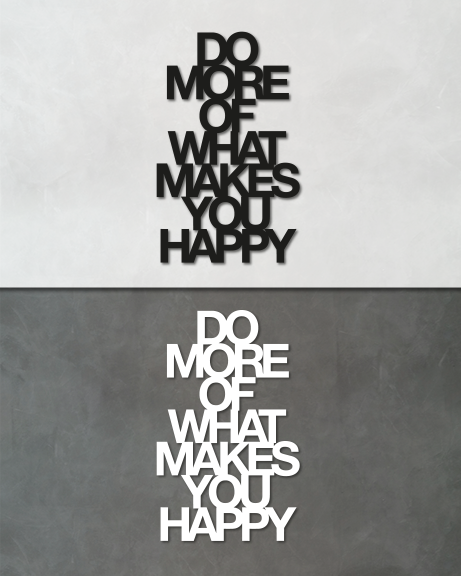 Makes you happy (lettering)