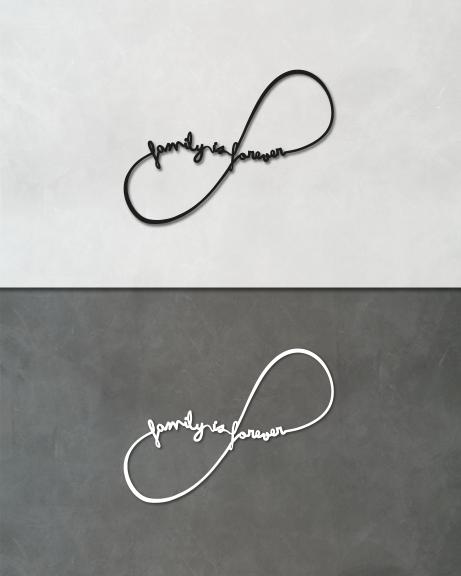 Family is forever (lettering)