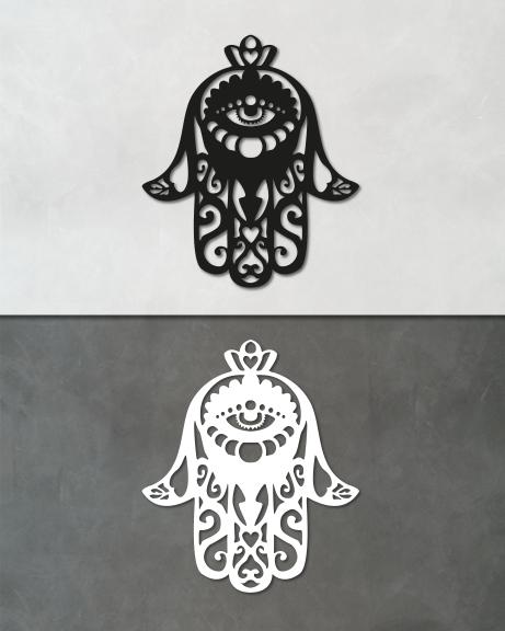 Hamsa – Mão de Fátima (lettering)