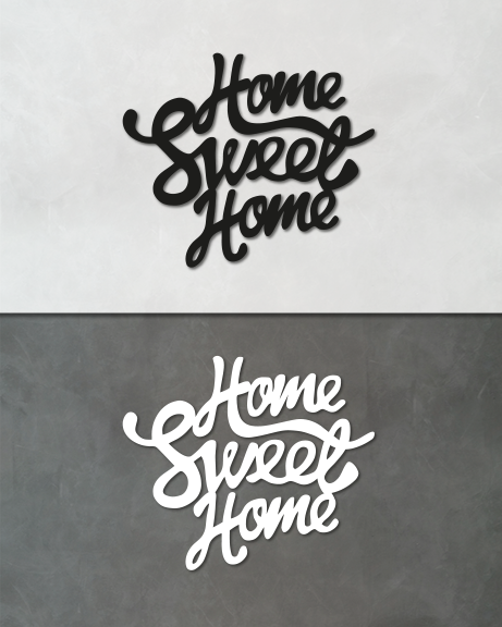 Home sweet home (lettering)