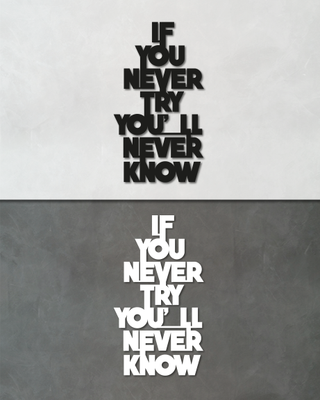 If you never try (lettering)