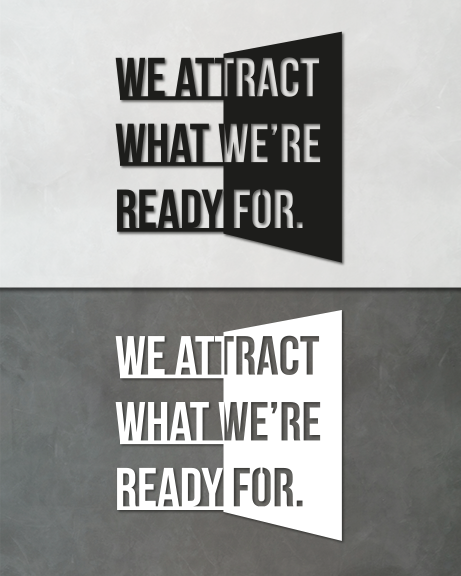 We attract (lettering)