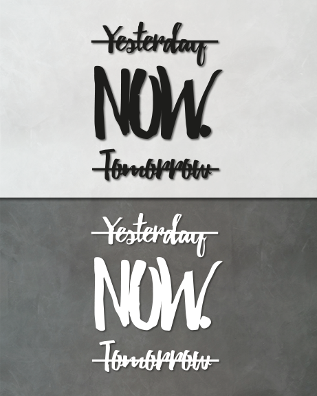 Yesterday Tomorrow now (lettering)